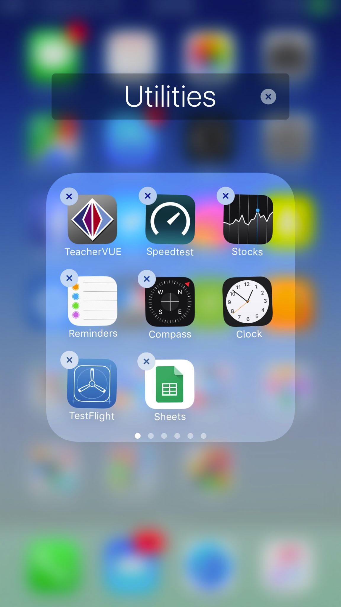 Borrando Apps de Apple