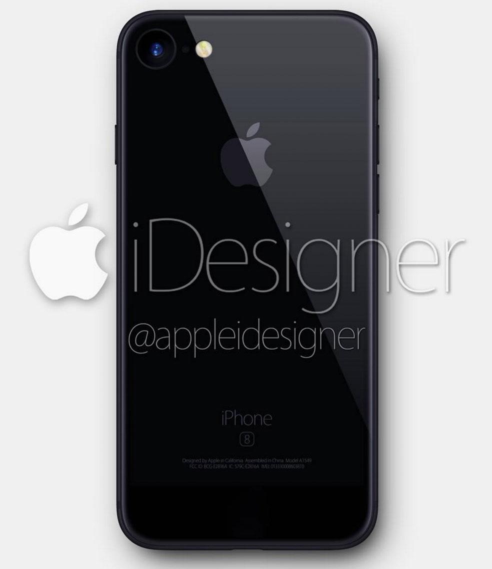 Concepto de diseño de iPhone 7 negro