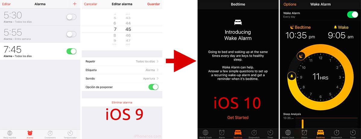 Nueva App de Alarma en iOS 10