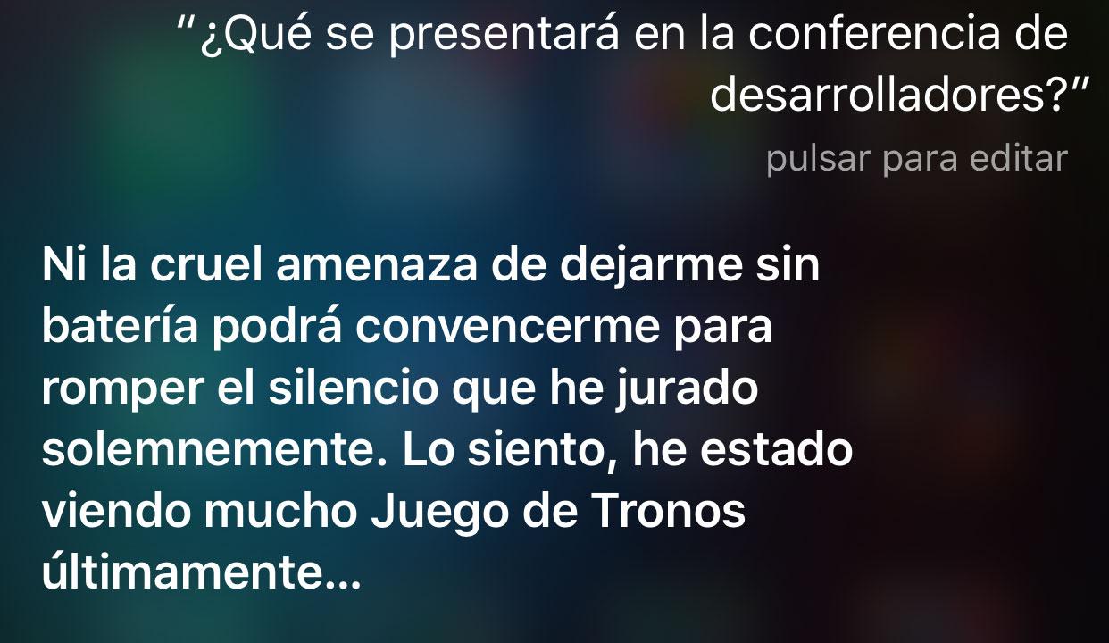 Siri contesta sobre la WWDC 2016