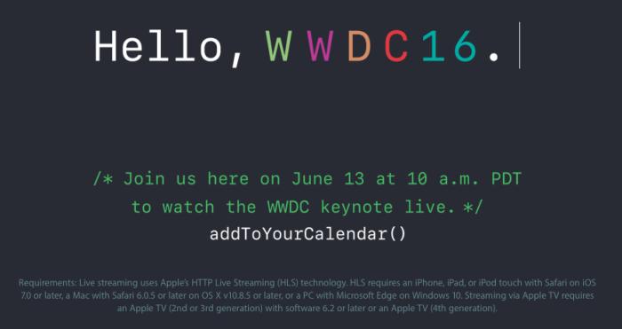 web WWDC 2016