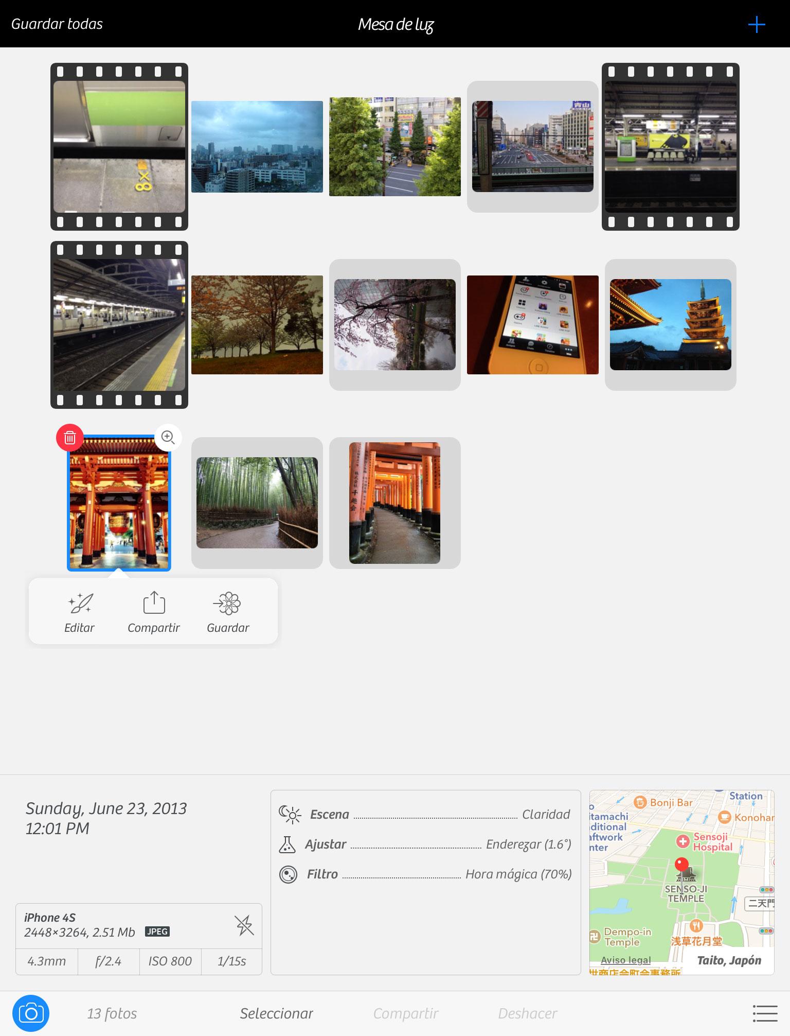 Camera+ 2 en el iPad