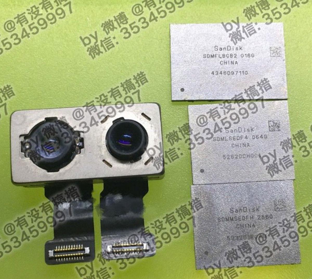 Supuestos chips de almacenamiento Flash del iPhone 7
