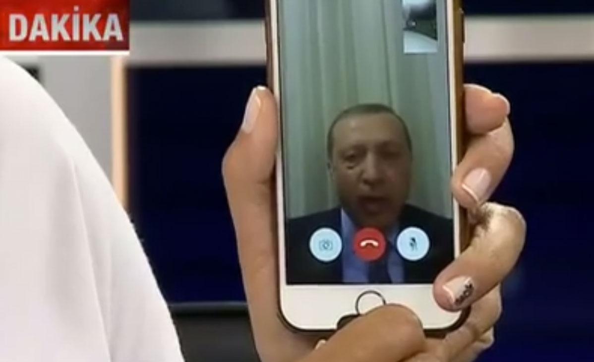 Erdogan en FaceTime