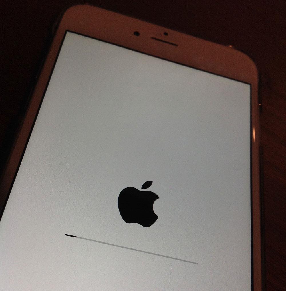Actualizando iOS en un iPhone 6 Plus