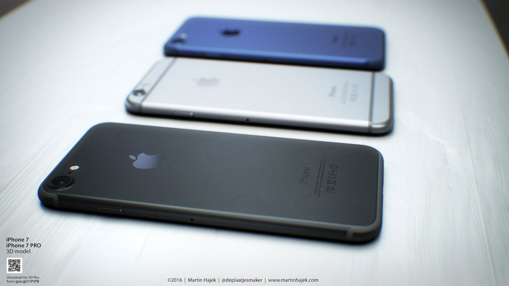 Concepto de diseño de iPhone 7 gris espacial oscuro de Martin Hajek