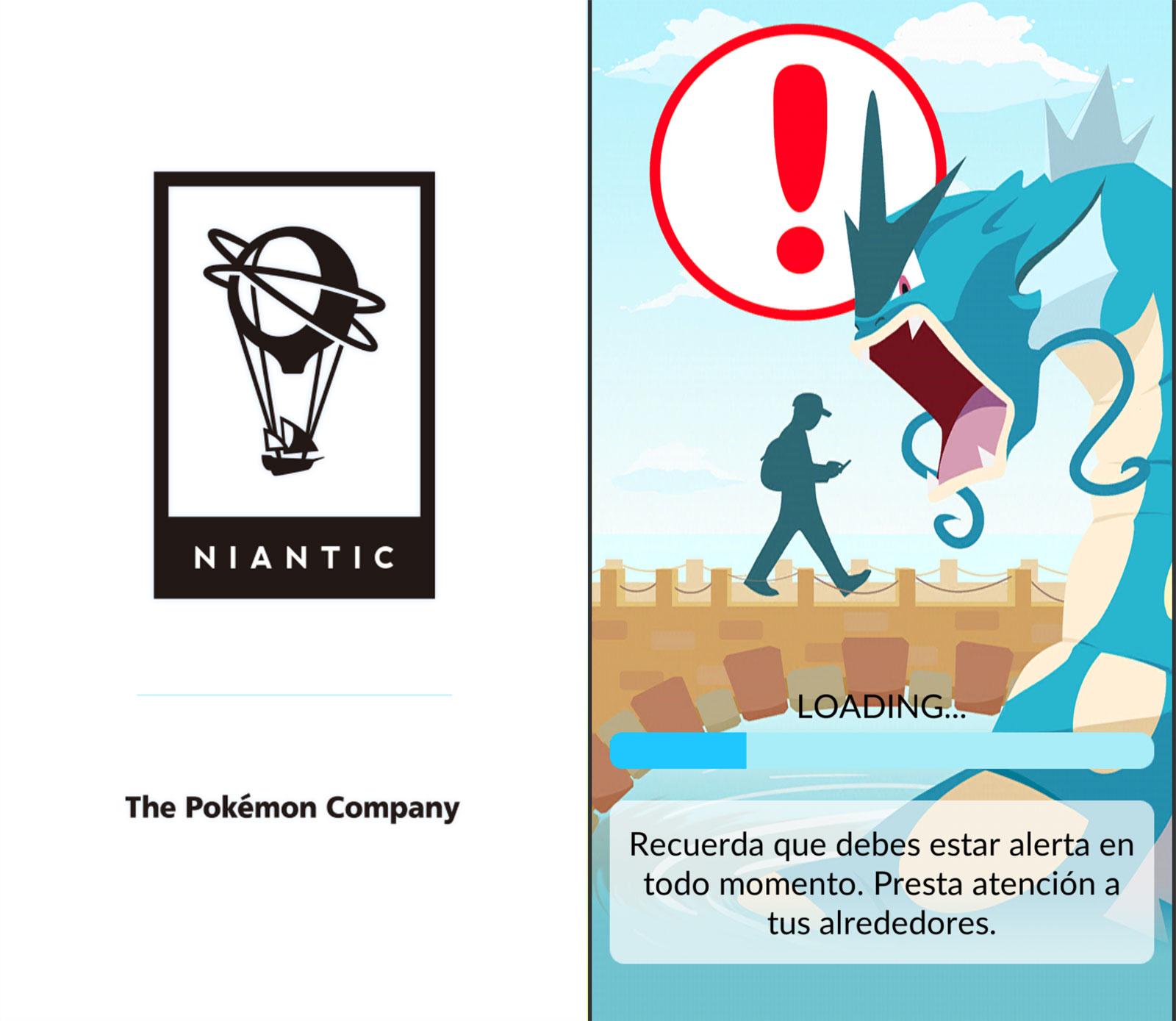 Pokémon Go al abrirse