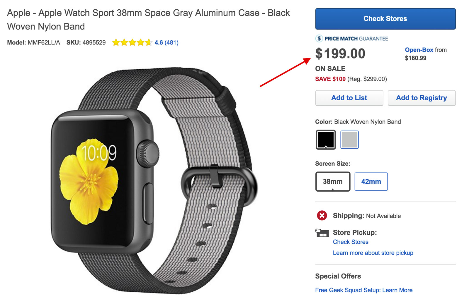 Apple Watch a 199 dólares