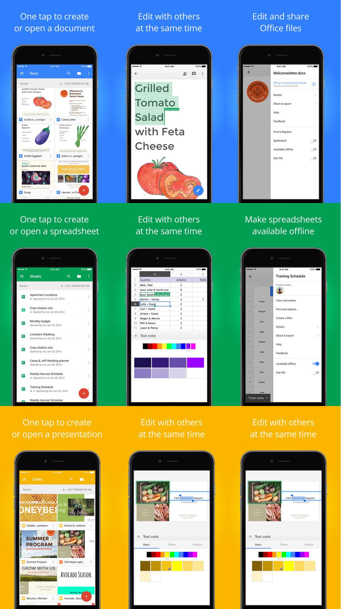 Apps ofimáticas de Google