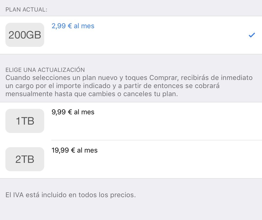 2 TB en iCloud