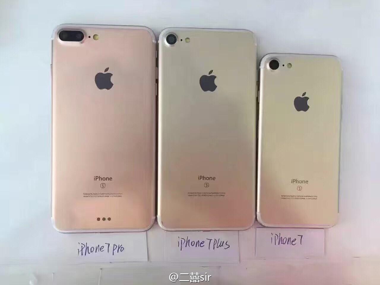 Maquetas del iPhone 7, Plus y Pro