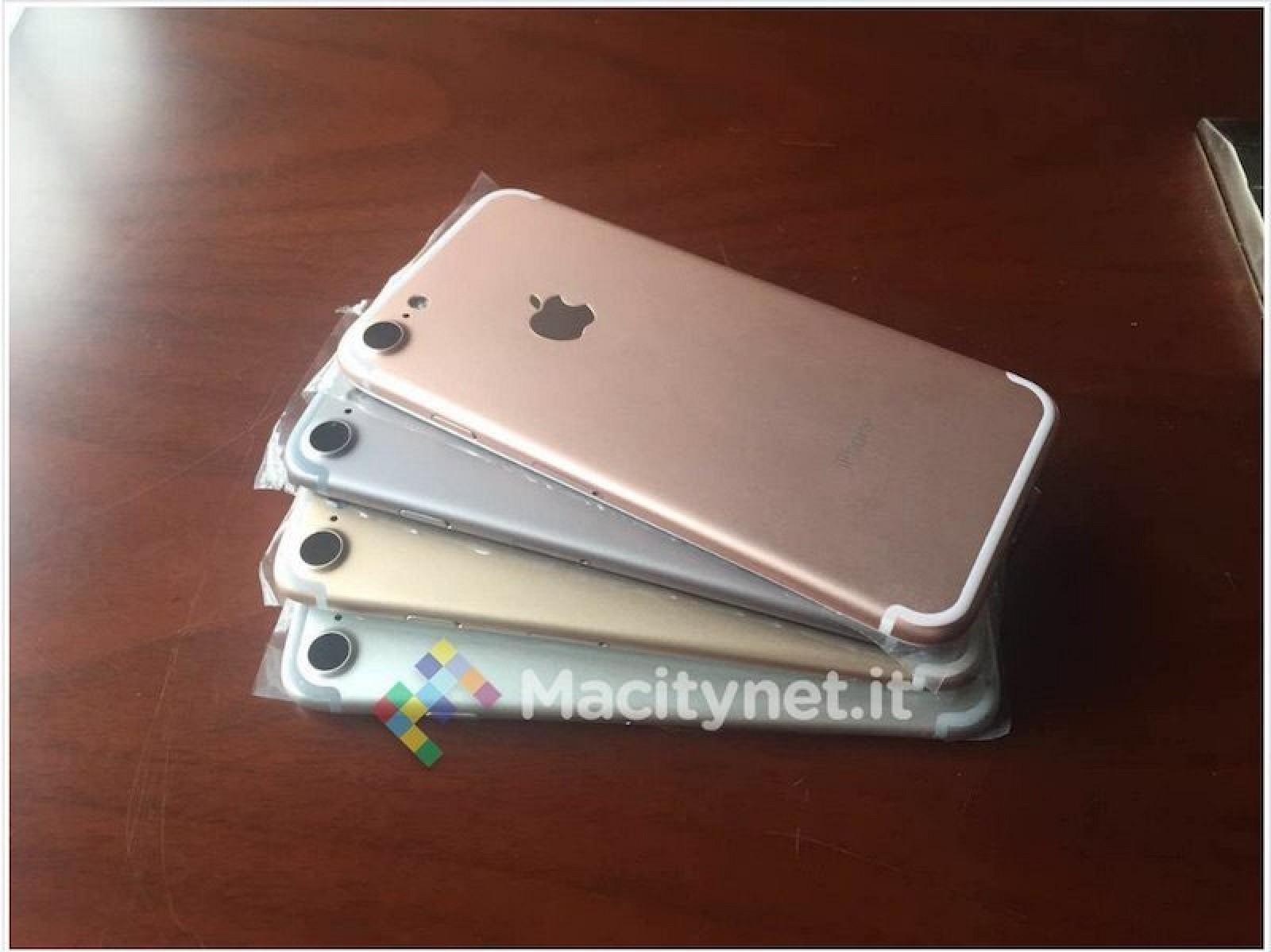 Supuesta carcasa trasera del iPhone 7 en varios colores