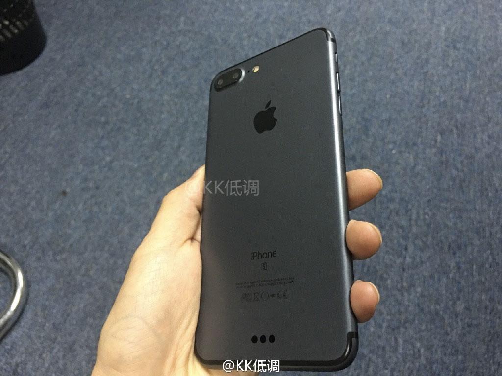 Maqueta del iPhone 7 negro