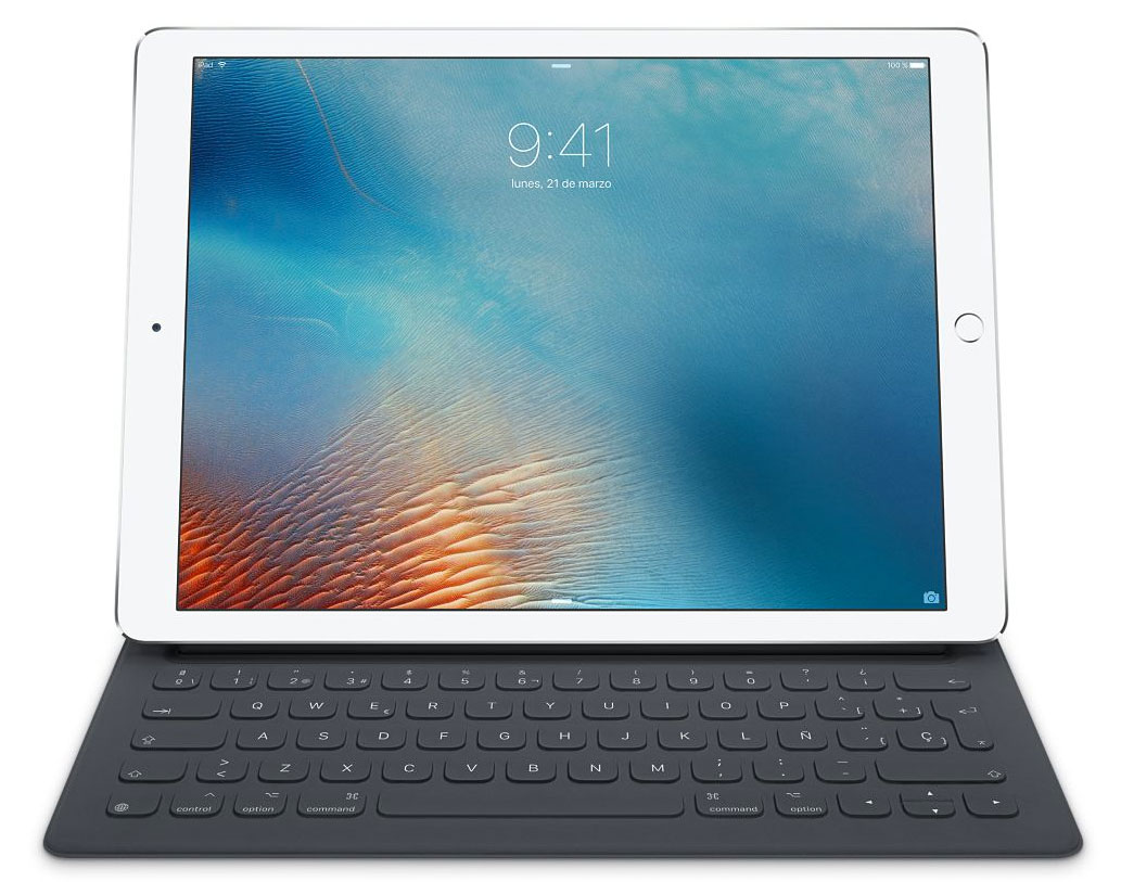 iPad Pro con teclado en español