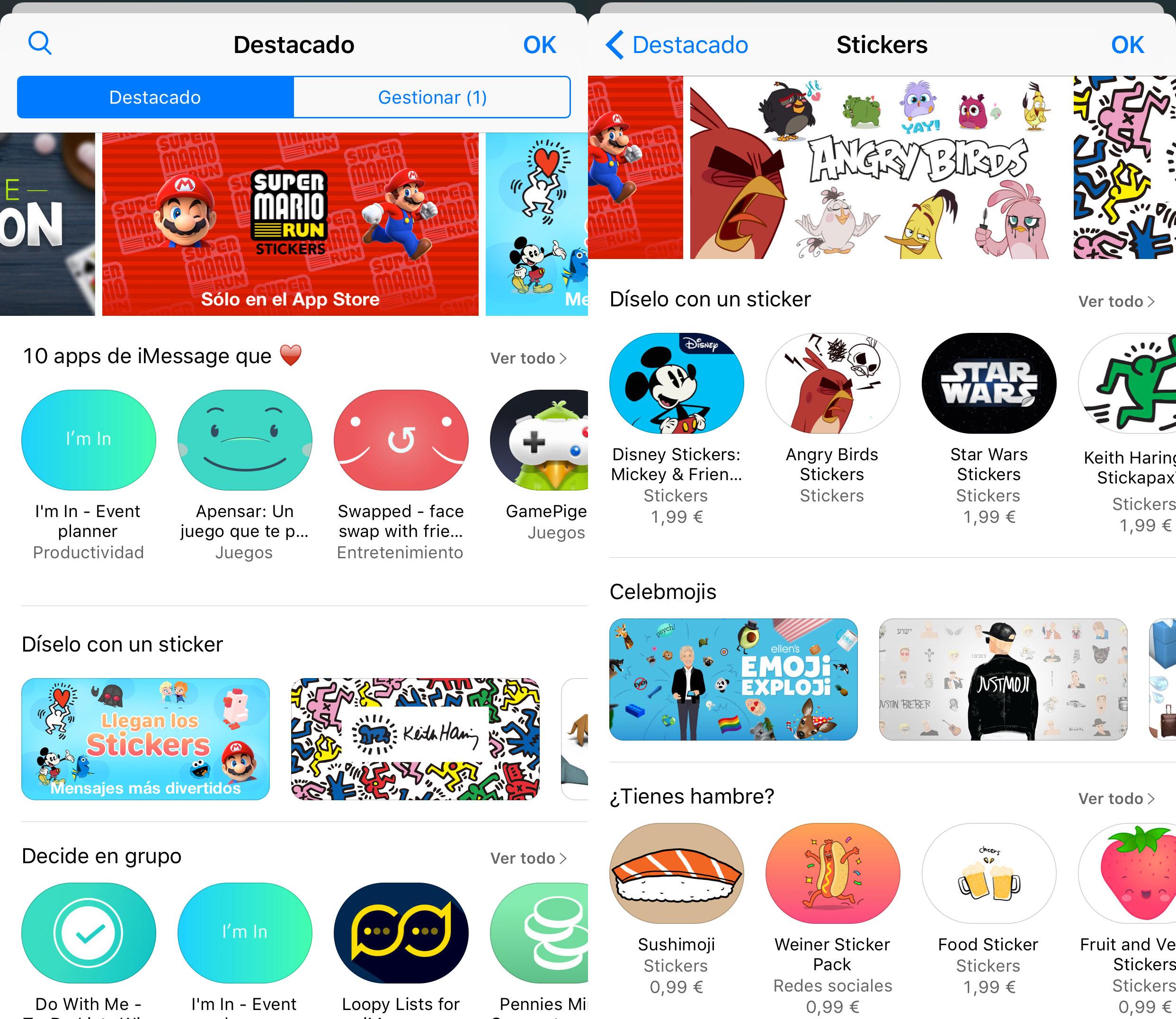 App Store de la App de Mensajes