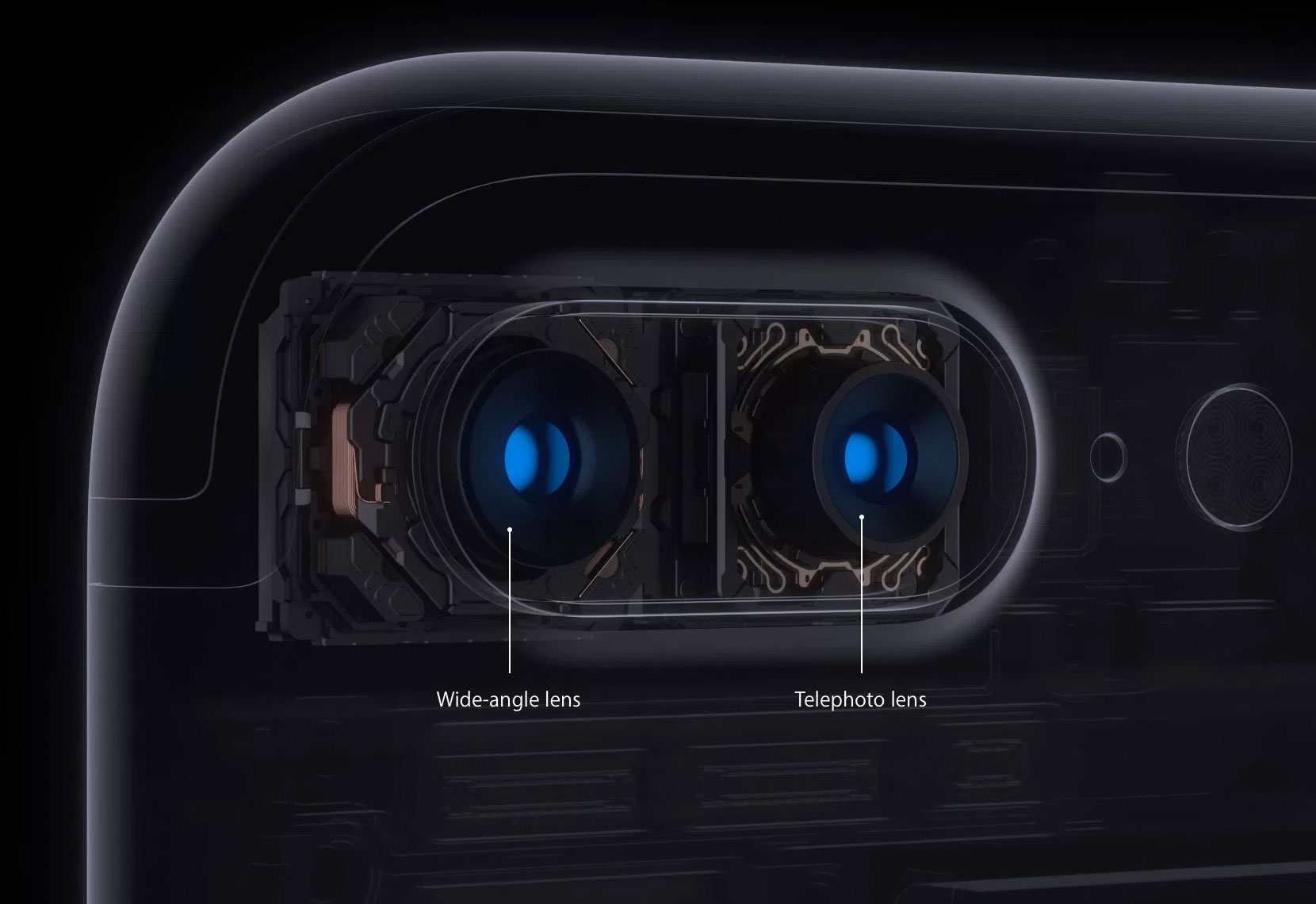 Cámara doble del iPhone 7 Plus