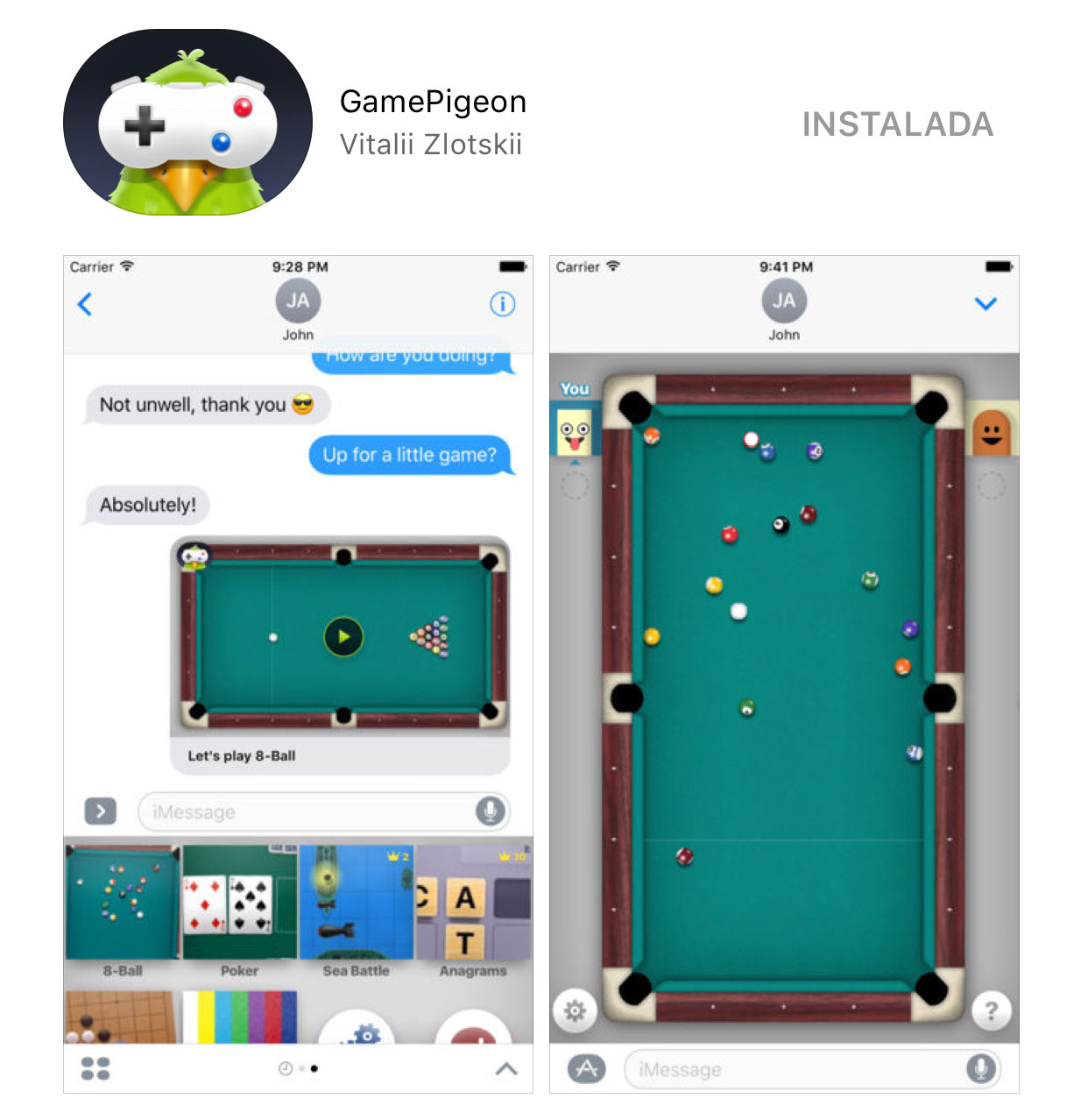 GamePigeon para la App de Mensajes