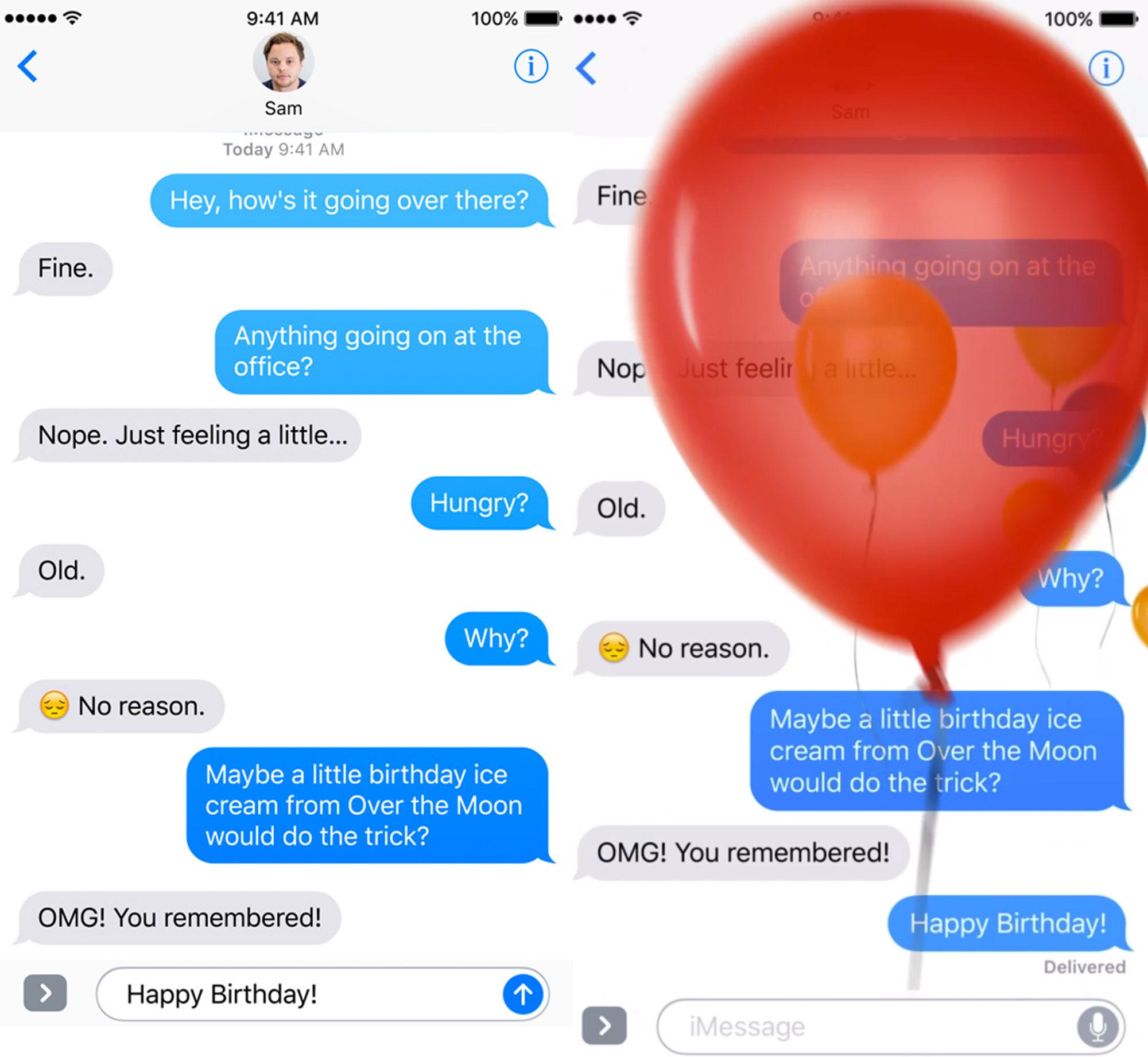 Mejoras de la App de Mensajes en iOS 10