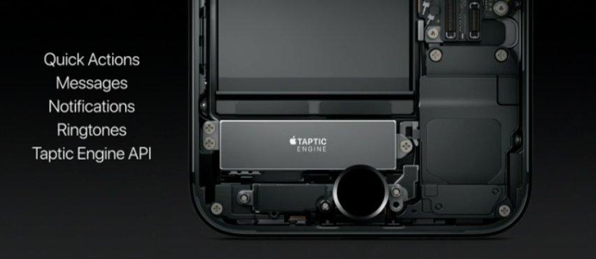 Motor háptico del iPhone 7