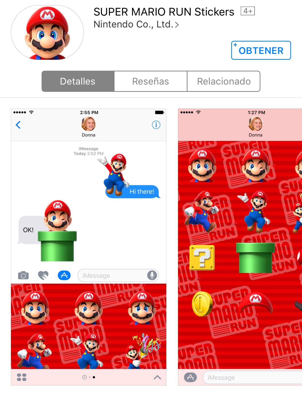 Pegatinas de Super Mario Run