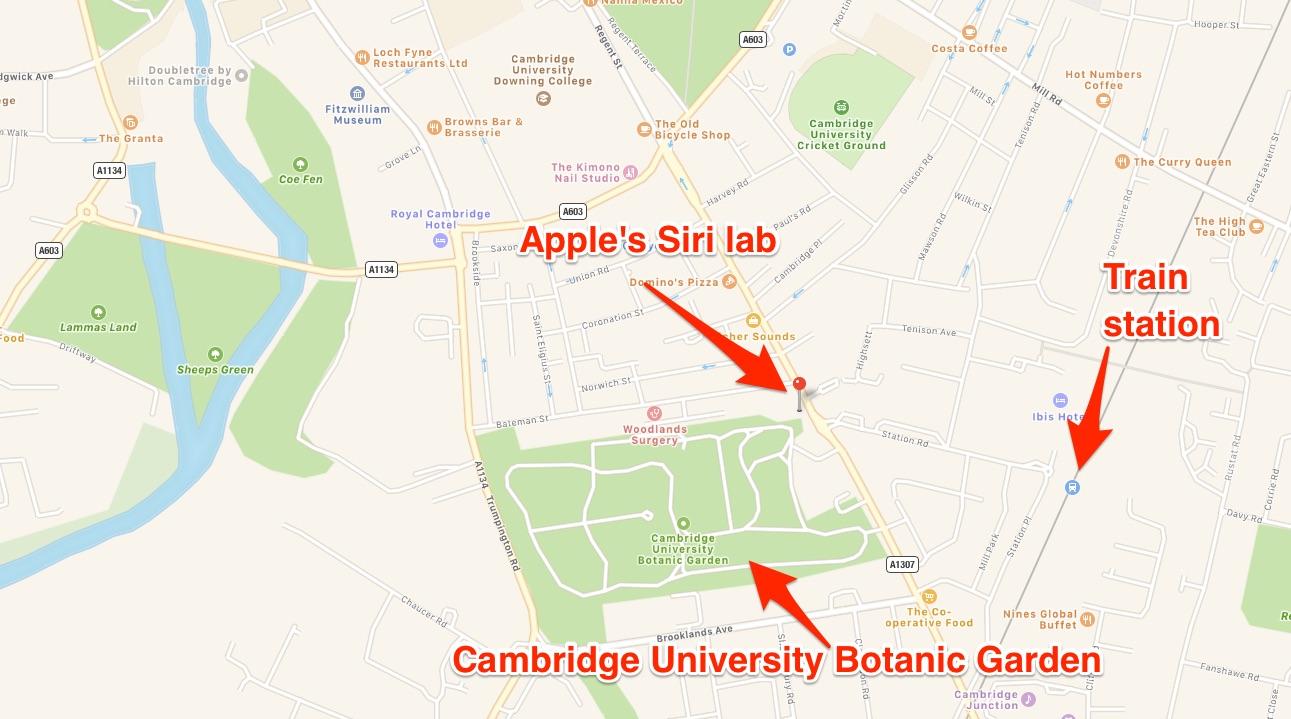 OfIcinas de Apple y VocalIQ en Cambridge