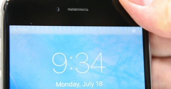 Barra gris en la pantalla del iPhone