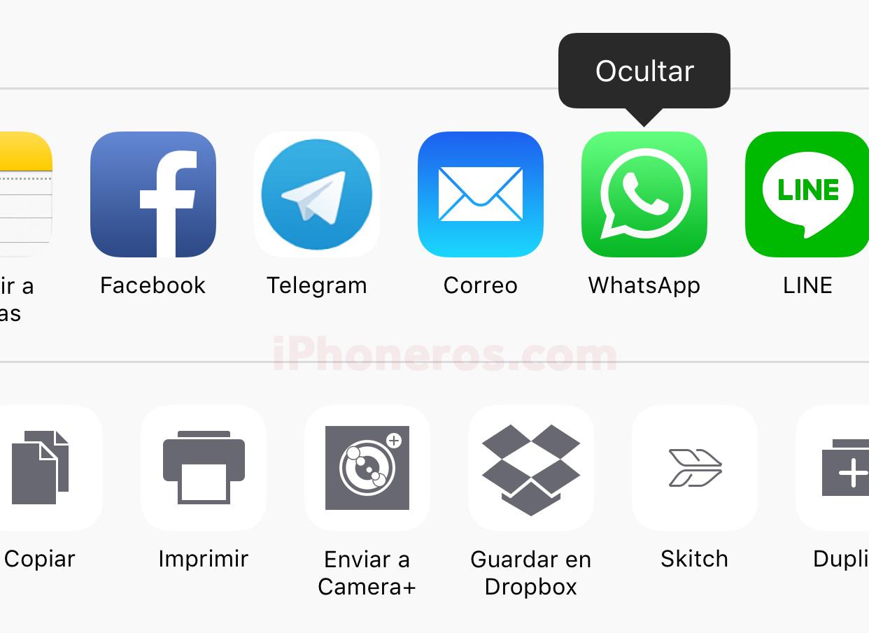 Cómo ocultar una App en el menú de Apps compartidas