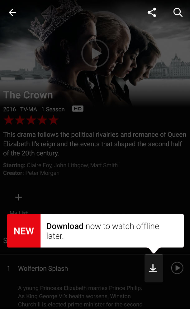 Descargas en Netflix