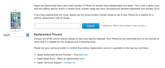 iPhone 6s sustitucion bateria