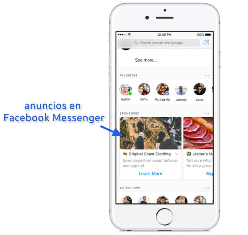 Anuncios en Facebook Messenger