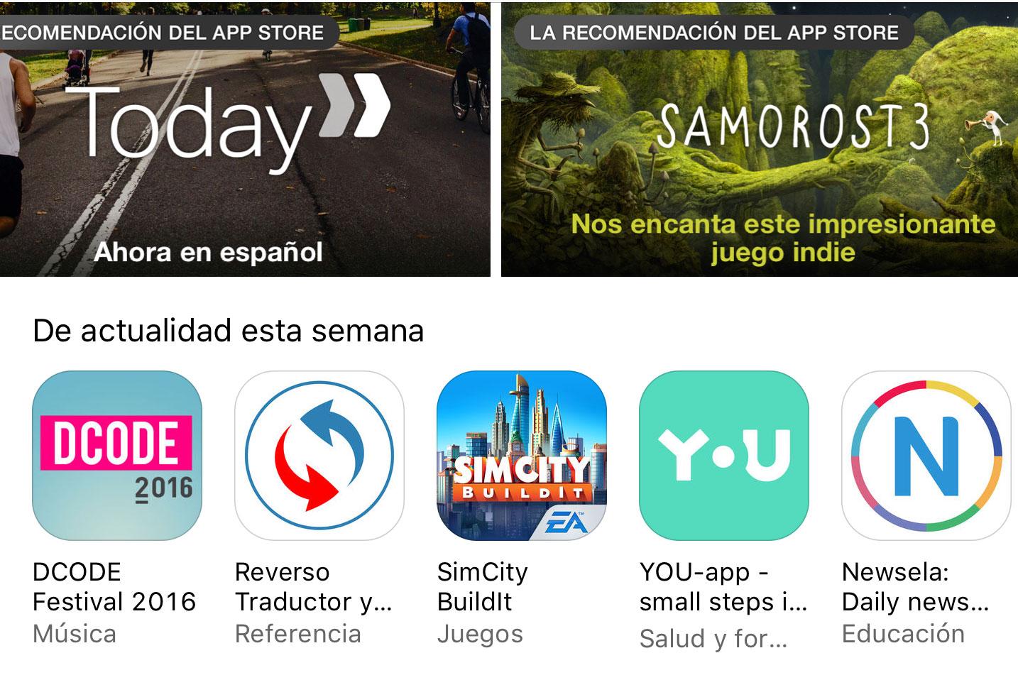 Portada de la App Store
