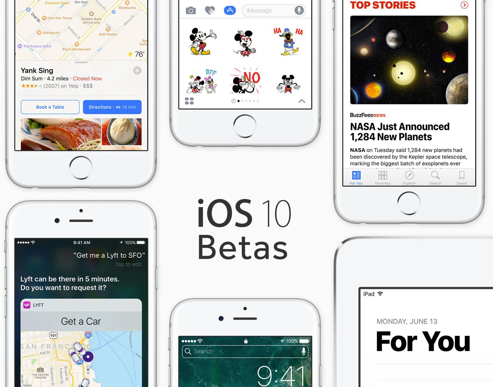 Betas de iOS 10