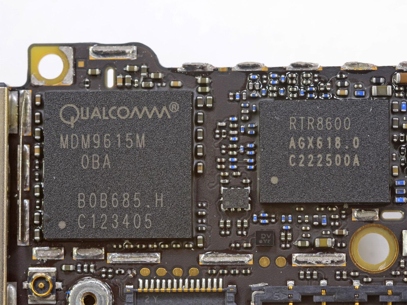 Chip de Baseband del iPhone 5, fabricado y diseñado por Qualcomm