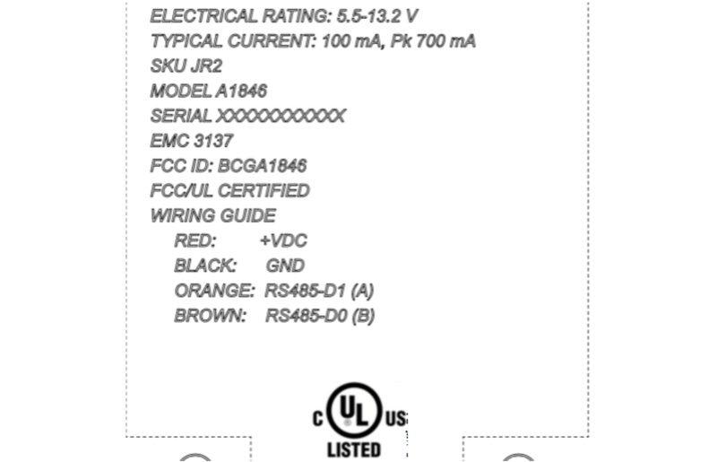 A1846 en la FCC