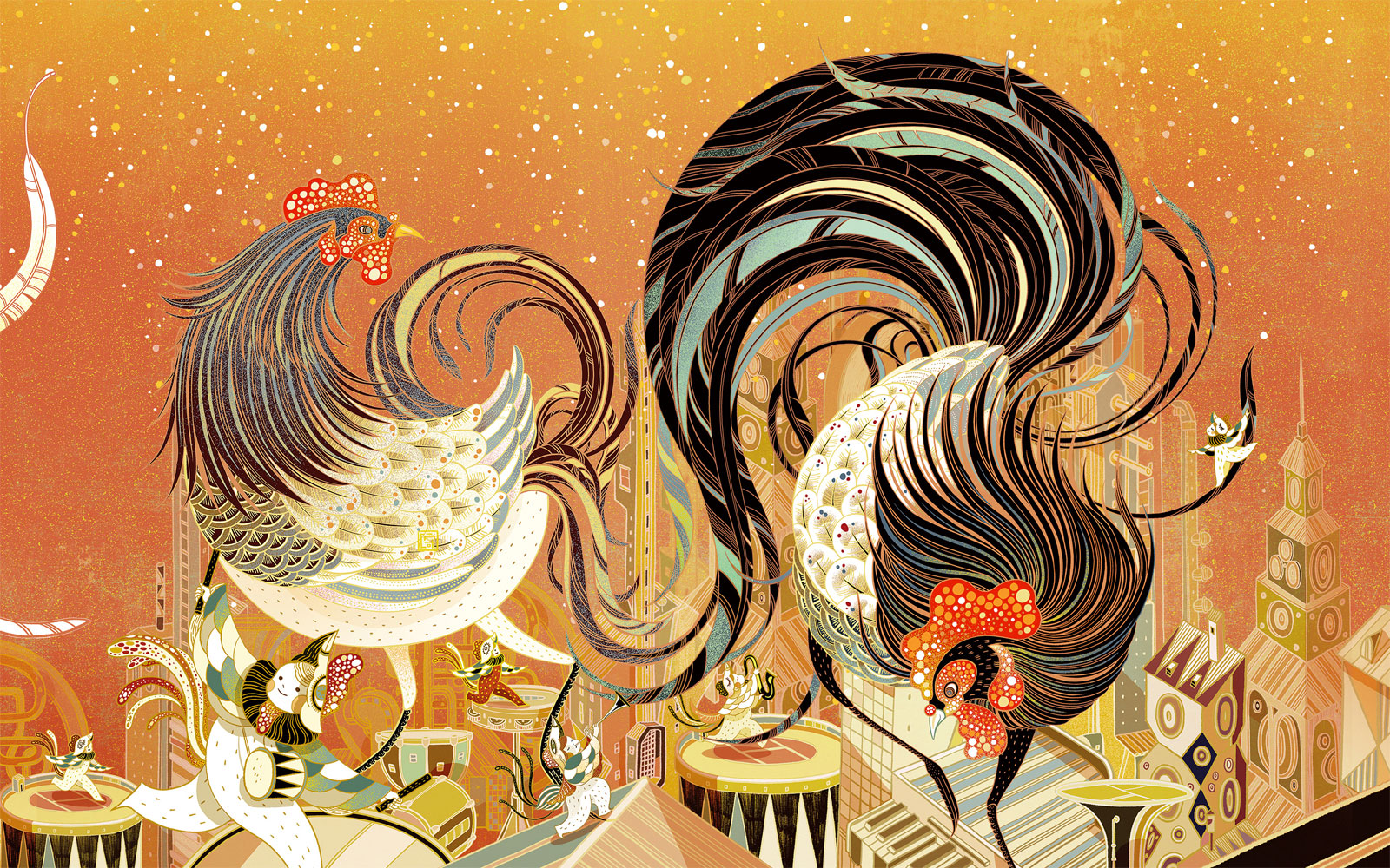 Lucky rooster de Victo Ngai