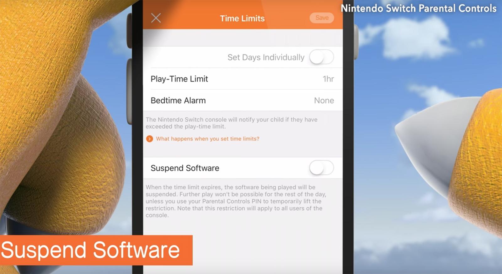 Controles parentales de la Nintendo Switch