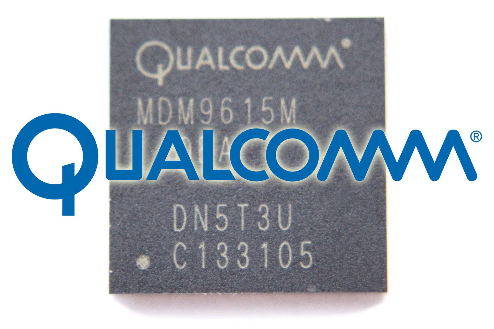 Baseband del iPhone 5 con el logo de Qualcomm