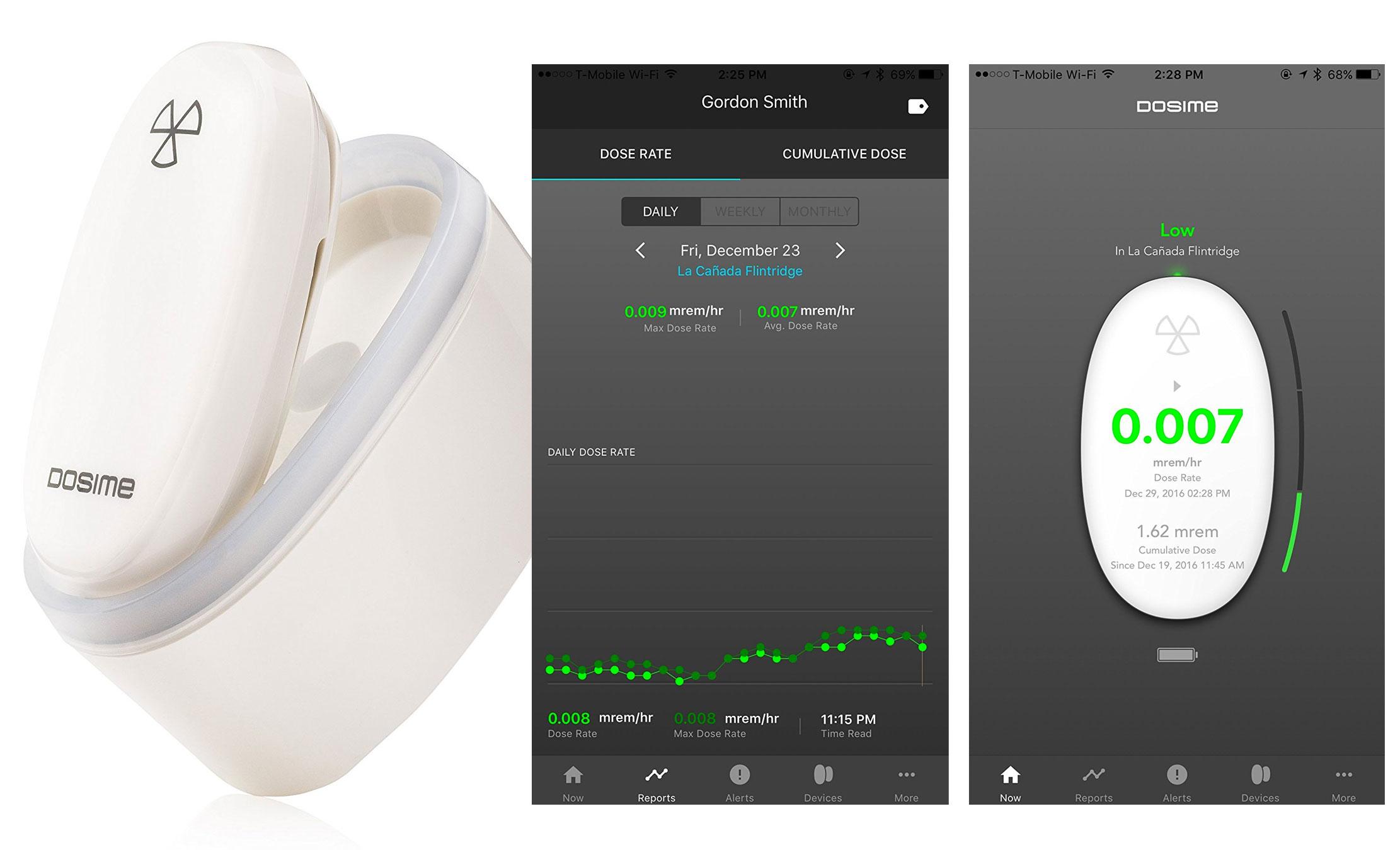 DOSIME, medidor de radiación para iPhone