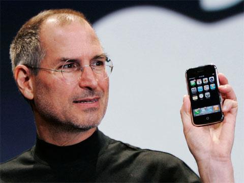 Steve Jobs presentando el iPhone