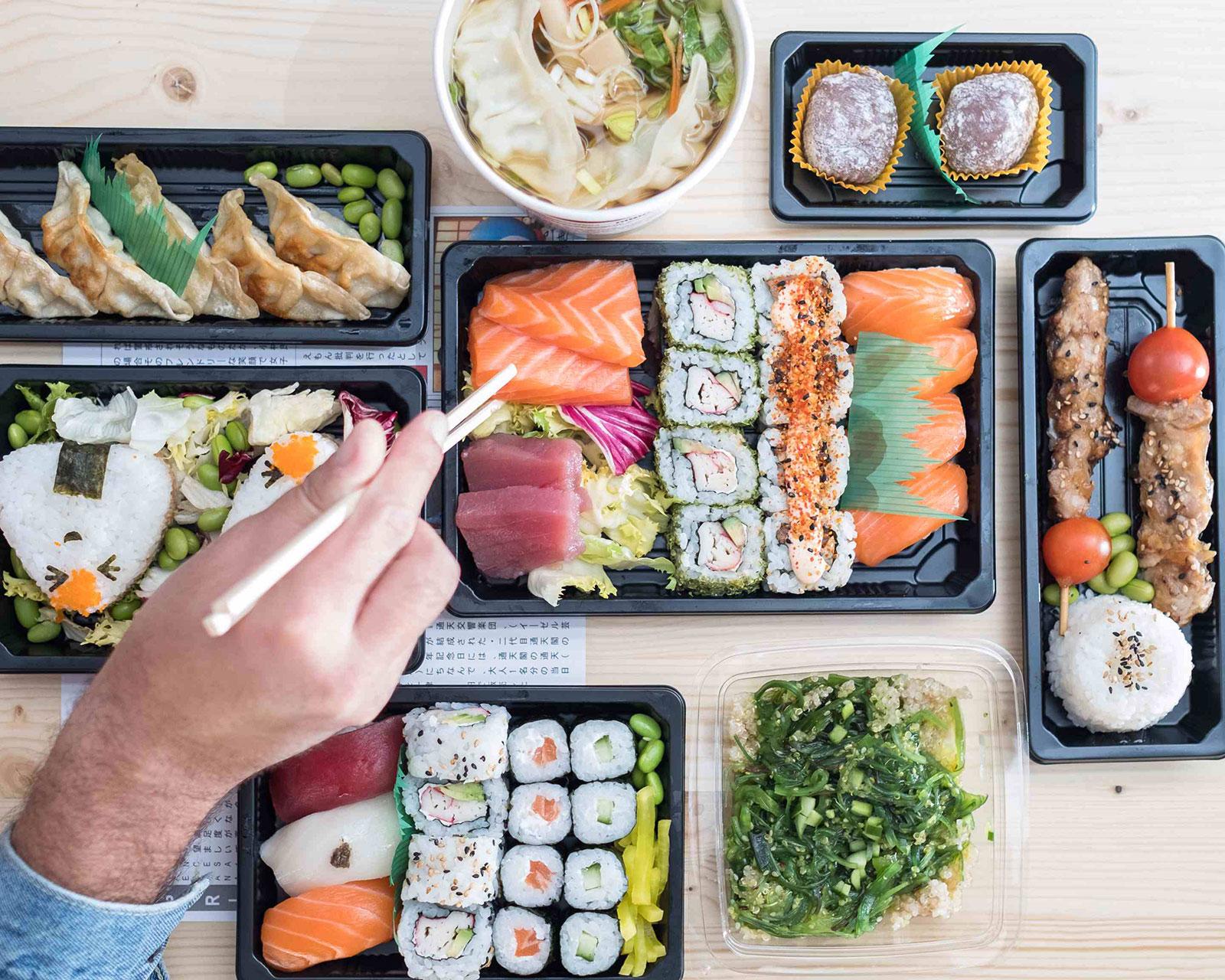 Sushi de UberEATS