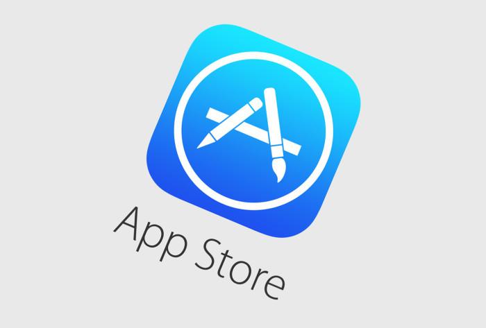 App Store logo inclinado