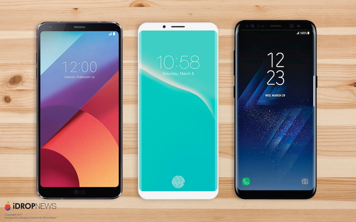 LG G7, concepto de iPhone 8, Galaxy S8