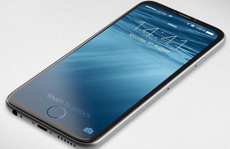 Concepto de diseño de iPhone Edition todo pantalla