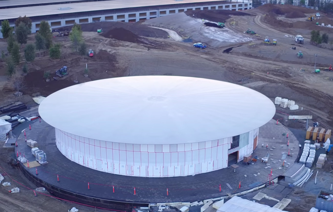 Steve Jobs Theater en obras