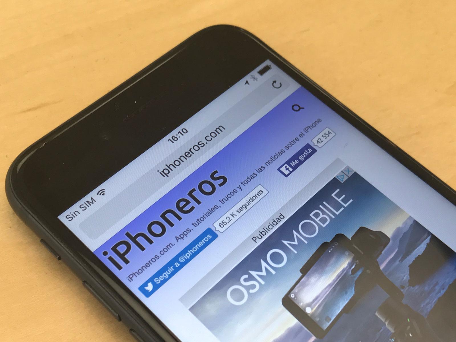 iPhoneros cargada en un iPhone 7
