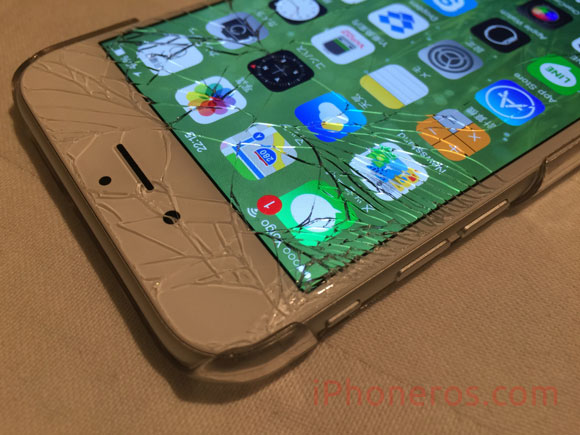 iPhone 6 con la pantalla rota
