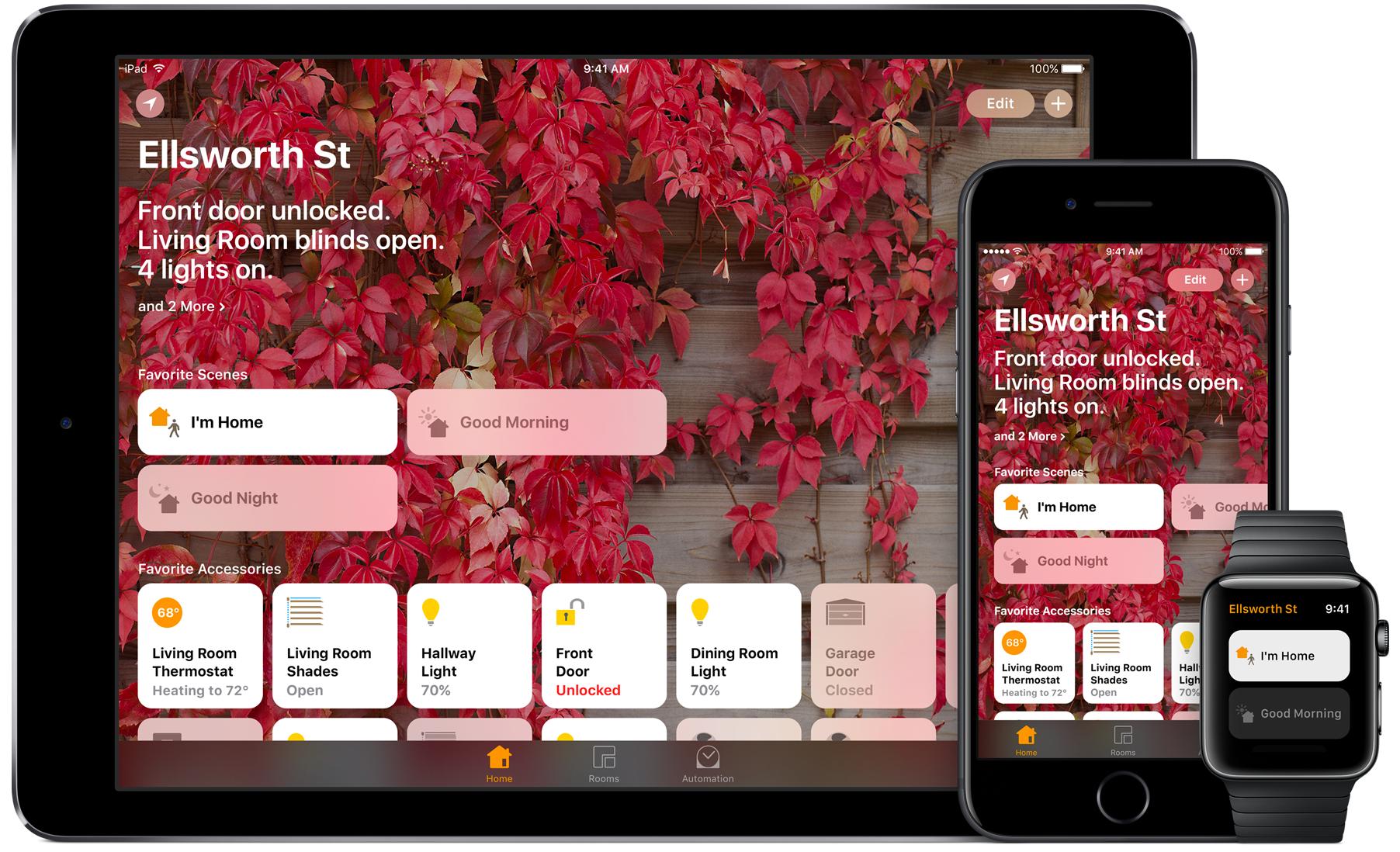 App de Home controlando dispositivos HomeKit