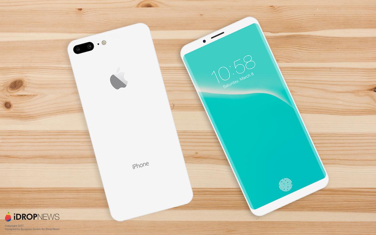 Concepto de diseño iPhone todo pantalla