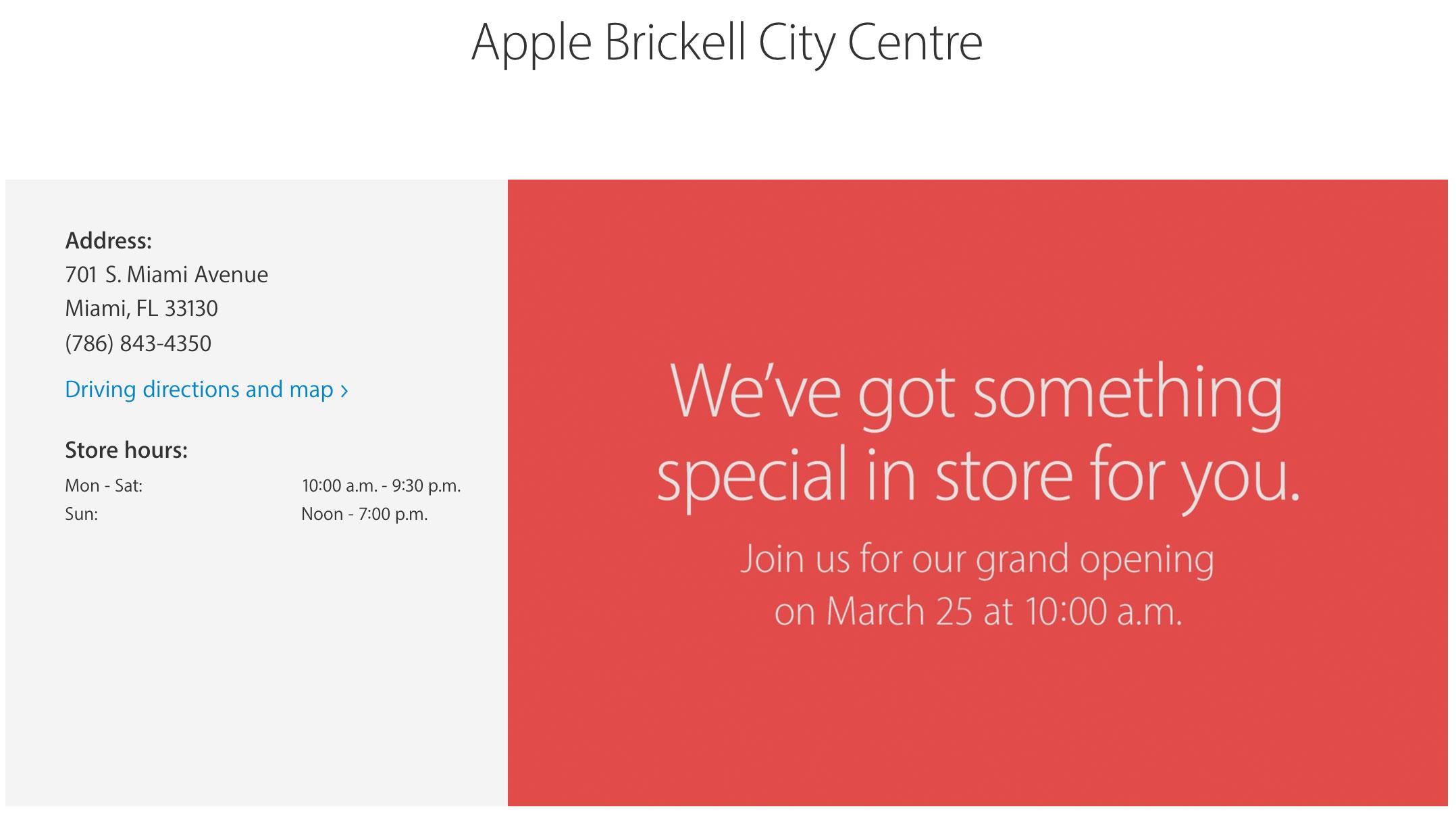 Inauguración de la Apple Brickell City Centre