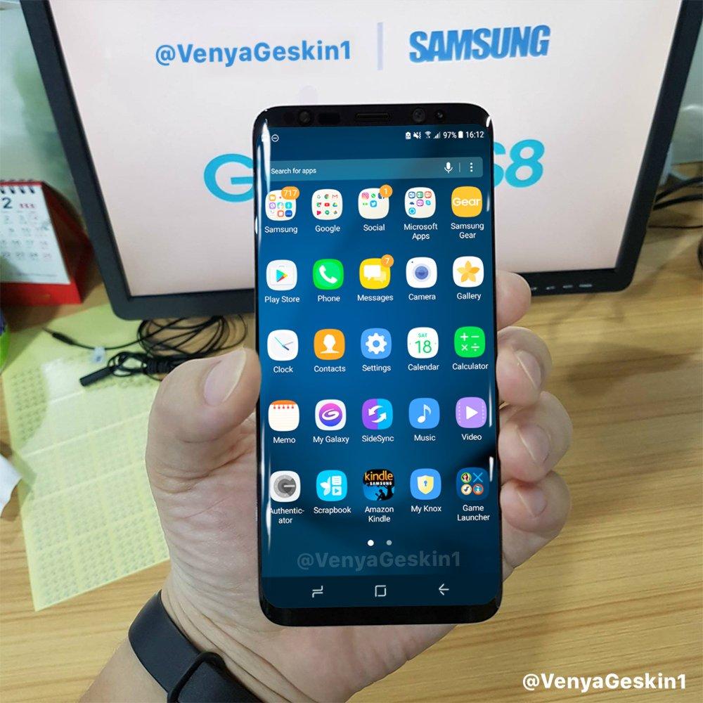 Concepto de diseño de Galaxy S8